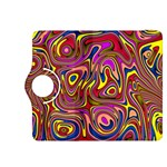 Abstract Shimmering Multicolor Swirly Kindle Fire HDX 8.9  Flip 360 Case Front