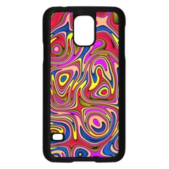 Abstract Shimmering Multicolor Swirly Samsung Galaxy S5 Case (black)