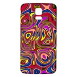 Abstract Shimmering Multicolor Swirly Samsung Galaxy S5 Back Case (White) Front