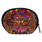 Abstract Shimmering Multicolor Swirly Accessory Pouches (Medium)  Back