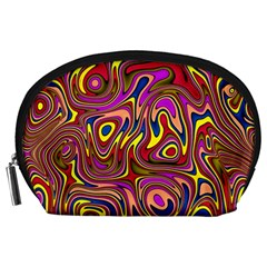 Abstract Shimmering Multicolor Swirly Accessory Pouches (Large)