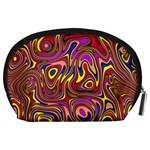 Abstract Shimmering Multicolor Swirly Accessory Pouches (Large)  Back