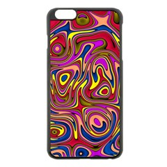 Abstract Shimmering Multicolor Swirly Apple Iphone 6 Plus/6s Plus Black Enamel Case by designworld65
