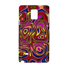 Abstract Shimmering Multicolor Swirly Samsung Galaxy Note 4 Hardshell Case
