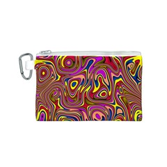 Abstract Shimmering Multicolor Swirly Canvas Cosmetic Bag (s) by designworld65
