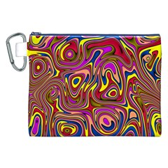 Abstract Shimmering Multicolor Swirly Canvas Cosmetic Bag (xxl) by designworld65