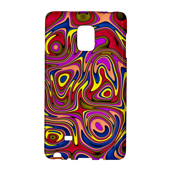 Abstract Shimmering Multicolor Swirly Galaxy Note Edge