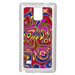 Abstract Shimmering Multicolor Swirly Samsung Galaxy Note 4 Case (white)