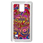 Abstract Shimmering Multicolor Swirly Samsung Galaxy Note 4 Case (White) Front