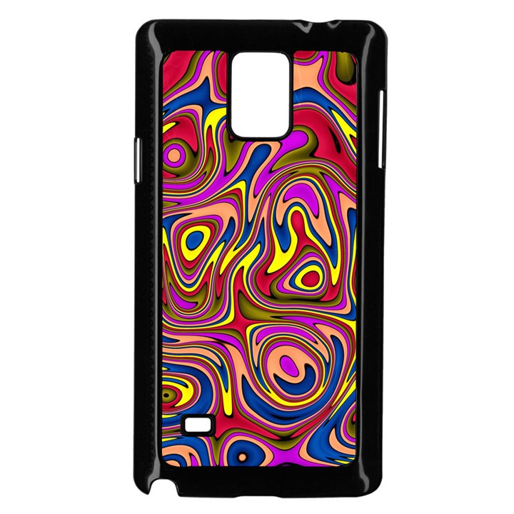 Abstract Shimmering Multicolor Swirly Samsung Galaxy Note 4 Case (Black)