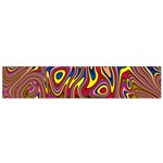 Abstract Shimmering Multicolor Swirly Flano Scarf (Small) Front