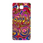 Abstract Shimmering Multicolor Swirly Samsung Galaxy Alpha Hardshell Back Case Front