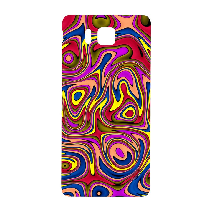 Abstract Shimmering Multicolor Swirly Samsung Galaxy Alpha Hardshell Back Case