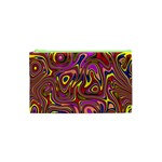 Abstract Shimmering Multicolor Swirly Cosmetic Bag (XS)