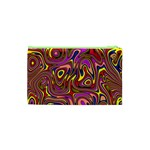 Abstract Shimmering Multicolor Swirly Cosmetic Bag (XS) Back