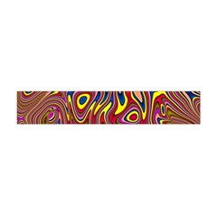 Abstract Shimmering Multicolor Swirly Flano Scarf (Mini)