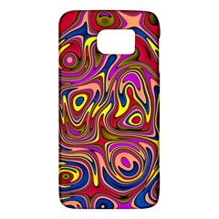 Abstract Shimmering Multicolor Swirly Galaxy S6