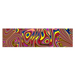 Abstract Shimmering Multicolor Swirly Satin Scarf (Oblong)