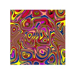 Abstract Shimmering Multicolor Swirly Small Satin Scarf (square) by designworld65