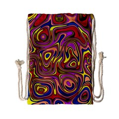 Abstract Shimmering Multicolor Swirly Drawstring Bag (small) by designworld65