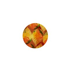 Fall Colors Leaves Pattern 1  Mini Buttons by DanaeStudio