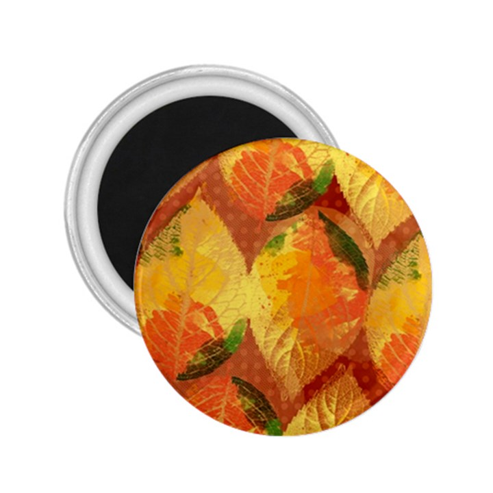 Fall Colors Leaves Pattern 2.25  Magnets