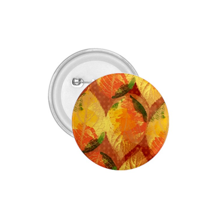 Fall Colors Leaves Pattern 1.75  Buttons