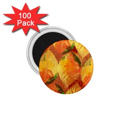 Fall Colors Leaves Pattern 1 75  Magnets (100 Pack)  by DanaeStudio