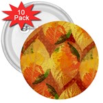 Fall Colors Leaves Pattern 3  Buttons (10 pack)  Front