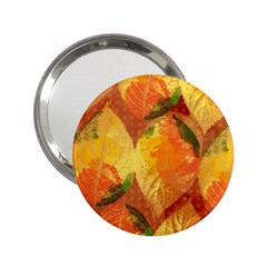 Fall Colors Leaves Pattern 2 25  Handbag Mirrors