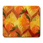 Fall Colors Leaves Pattern Large Mousepads Front