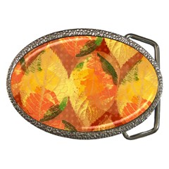 Fall Colors Leaves Pattern Belt Buckles