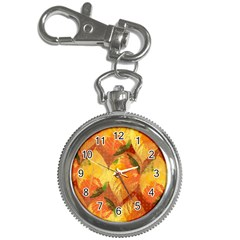 Fall Colors Leaves Pattern Key Chain Watches