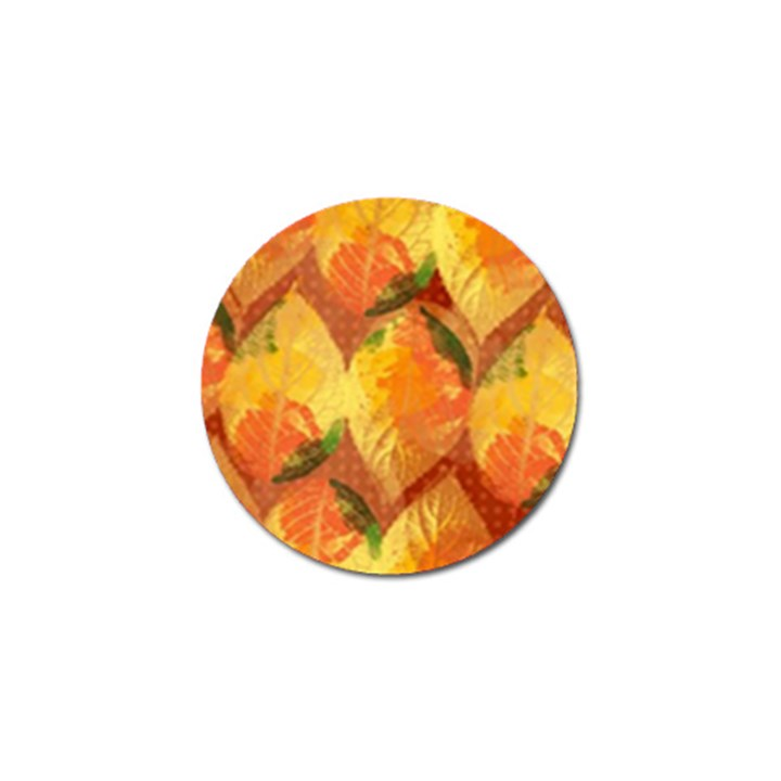 Fall Colors Leaves Pattern Golf Ball Marker