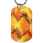Fall Colors Leaves Pattern Dog Tag (Two Sides) Front