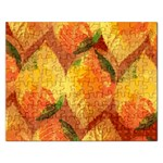 Fall Colors Leaves Pattern Rectangular Jigsaw Puzzl Front
