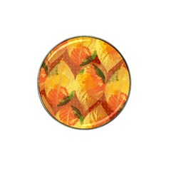 Fall Colors Leaves Pattern Hat Clip Ball Marker (10 Pack) by DanaeStudio