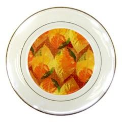 Fall Colors Leaves Pattern Porcelain Plates