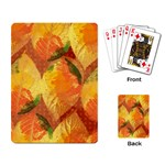 Fall Colors Leaves Pattern Playing Card Back