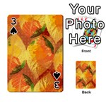 Fall Colors Leaves Pattern Playing Cards 54 Designs  Front - Spade3