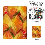 Fall Colors Leaves Pattern Playing Cards 54 Designs  Front - Heart7
