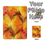Fall Colors Leaves Pattern Playing Cards 54 Designs  Front - Heart10