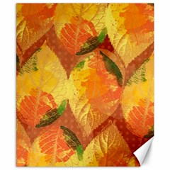 Fall Colors Leaves Pattern Canvas 8  X 10  by DanaeStudio