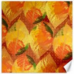 Fall Colors Leaves Pattern Canvas 12  x 12   12 x12 Canvas - 1