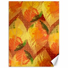 Fall Colors Leaves Pattern Canvas 18  X 24   by DanaeStudio