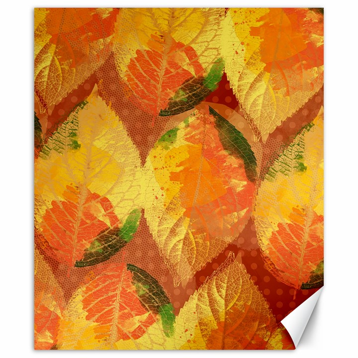 Fall Colors Leaves Pattern Canvas 20  x 24