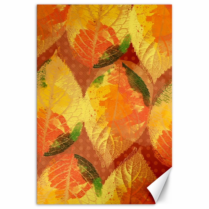 Fall Colors Leaves Pattern Canvas 20  x 30