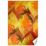 Fall Colors Leaves Pattern Canvas 24  x 36  36 x24 Canvas - 1