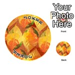 Fall Colors Leaves Pattern Playing Cards 54 (Round)  Front - Joker1