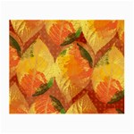 Fall Colors Leaves Pattern Small Glasses Cloth (2-Side) Back
